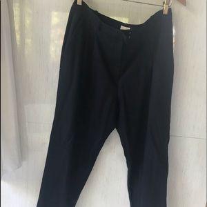 Michael Michael Kors Navy Blue Wool Blend Pants